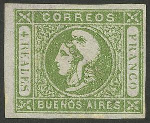Lot 11 - Argentina cabecitas -  Guillermo Jalil - Philatino Auction # 2008 ARGENTINA: