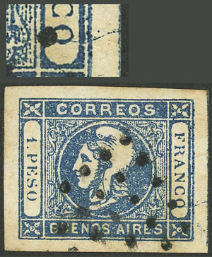 Lot 19 - Argentina cabecitas -  Guillermo Jalil - Philatino Auction # 2008 ARGENTINA: