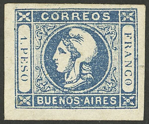 Lot 16 - Argentina cabecitas -  Guillermo Jalil - Philatino Auction # 2008 ARGENTINA: