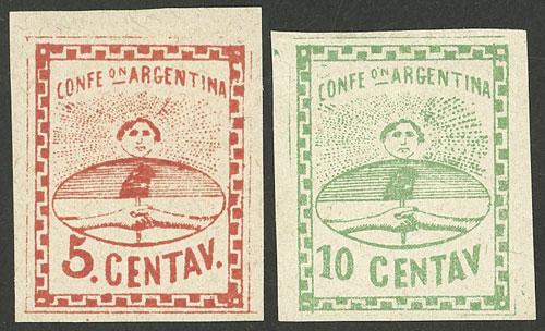 Lot 41 - Argentina confederation -  Guillermo Jalil - Philatino Auction # 2008 ARGENTINA: