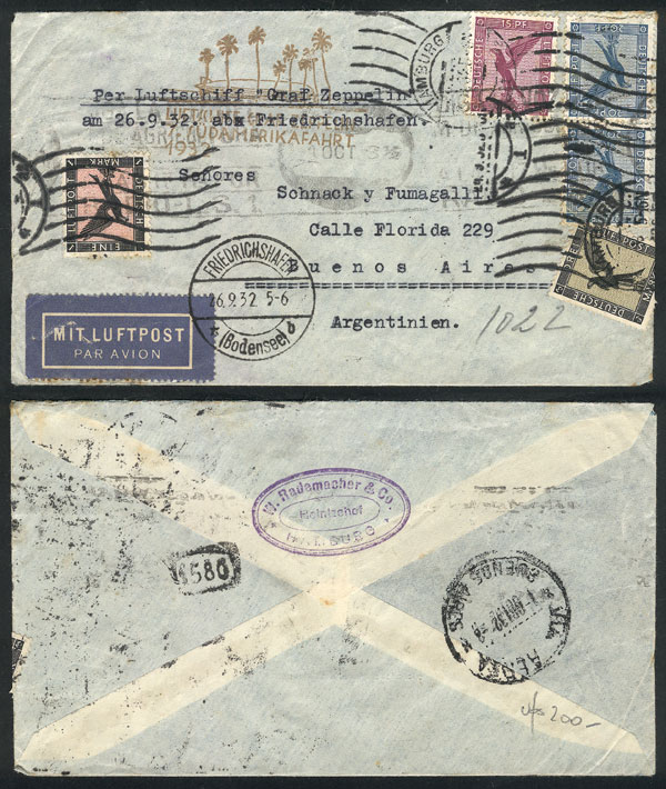 Lot 20 - germany postal history -  Guillermo Jalil - Philatino Auction # 2009 WORLDWIDE + ARGENTINA: First general auction of the year!
