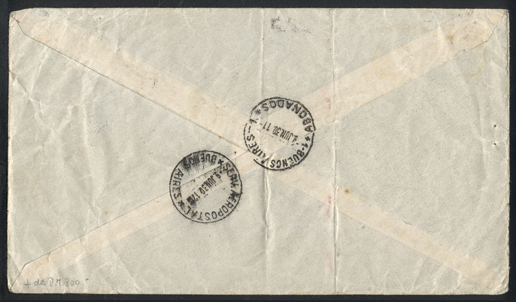 Lot 18 - germany postal history -  Guillermo Jalil - Philatino Auction # 2009 WORLDWIDE + ARGENTINA: First general auction of the year!