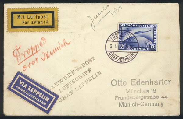 Lot 17 - germany postal history -  Guillermo Jalil - Philatino Auction # 2009 WORLDWIDE + ARGENTINA: First general auction of the year!