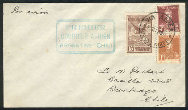Lot 368 - Argentina postal history -  Guillermo Jalil - Philatino Auction # 2009 WORLDWIDE + ARGENTINA: First general auction of the year!