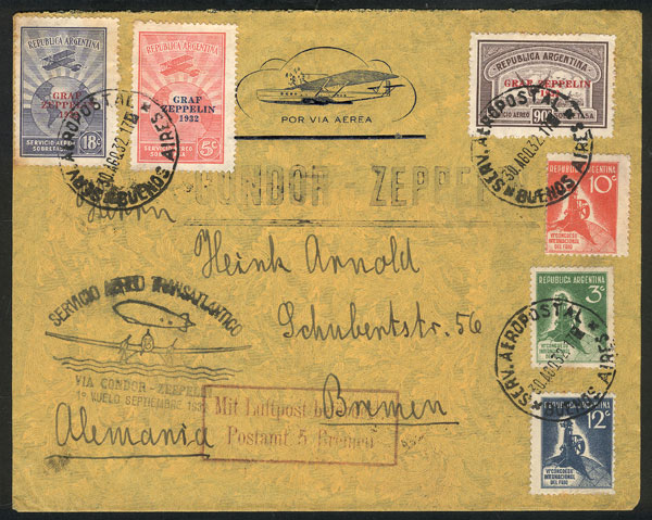 Lot 370 - Argentina postal history -  Guillermo Jalil - Philatino Auction # 2009 WORLDWIDE + ARGENTINA: First general auction of the year!