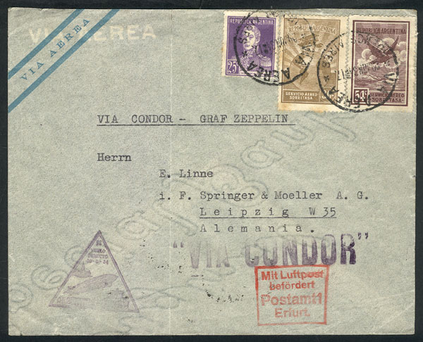 Lot 376 - Argentina postal history -  Guillermo Jalil - Philatino Auction # 2009 WORLDWIDE + ARGENTINA: First general auction of the year!
