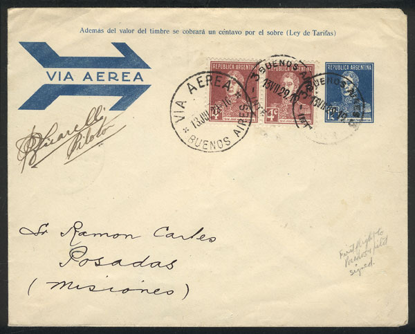 Lot 367 - Argentina postal history -  Guillermo Jalil - Philatino Auction # 2009 WORLDWIDE + ARGENTINA: First general auction of the year!