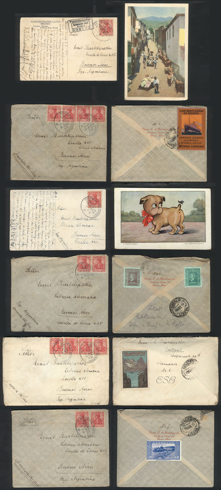 Lot 12 - germany postal history -  Guillermo Jalil - Philatino Auction # 2009 WORLDWIDE + ARGENTINA: First general auction of the year!