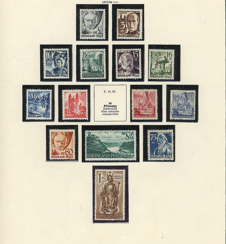 Lot 100 - GERMANY - FRENCH OCCUPATION + OTHER Lots and Collections -  Guillermo Jalil - Philatino Auction # 2009 WORLDWIDE + ARGENTINA: First general auction of the year!