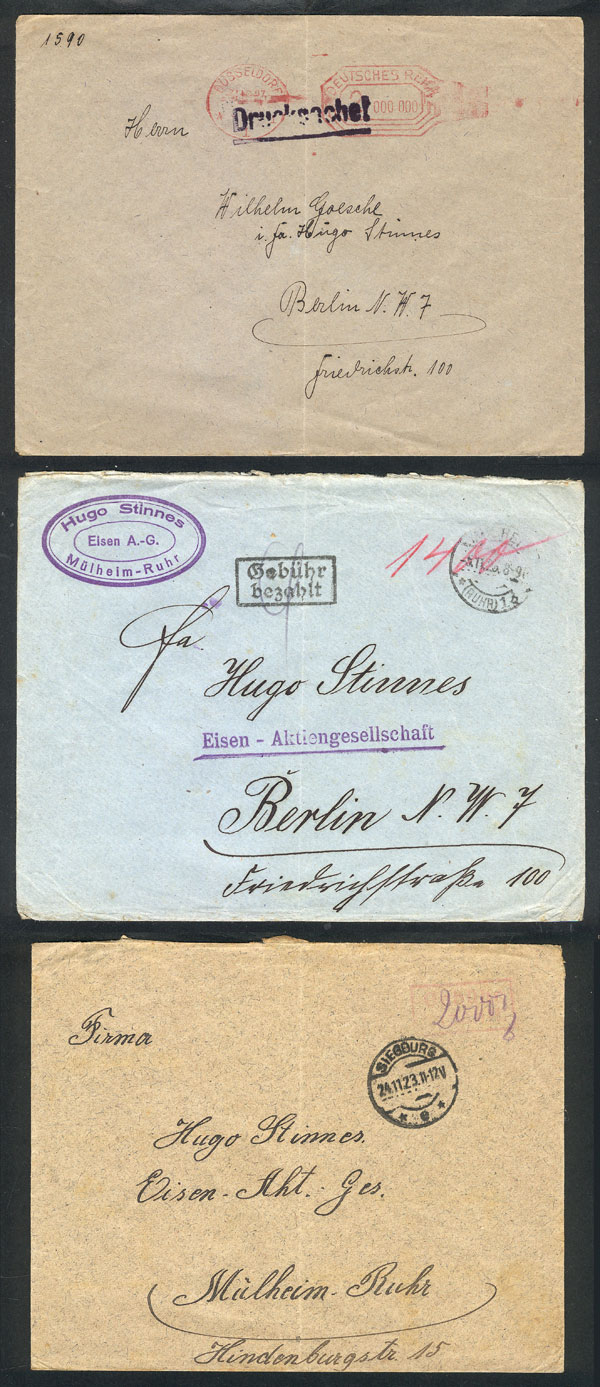Lot 14 - germany postal history -  Guillermo Jalil - Philatino Auction # 2009 WORLDWIDE + ARGENTINA: First general auction of the year!