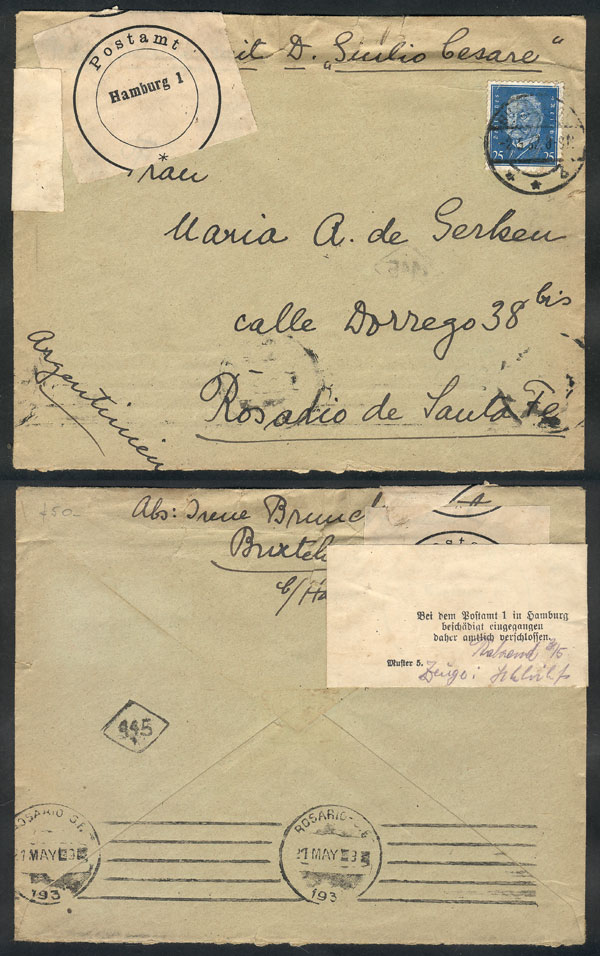 Lot 19 - germany postal history -  Guillermo Jalil - Philatino Auction # 2009 WORLDWIDE + ARGENTINA: First general auction of the year!