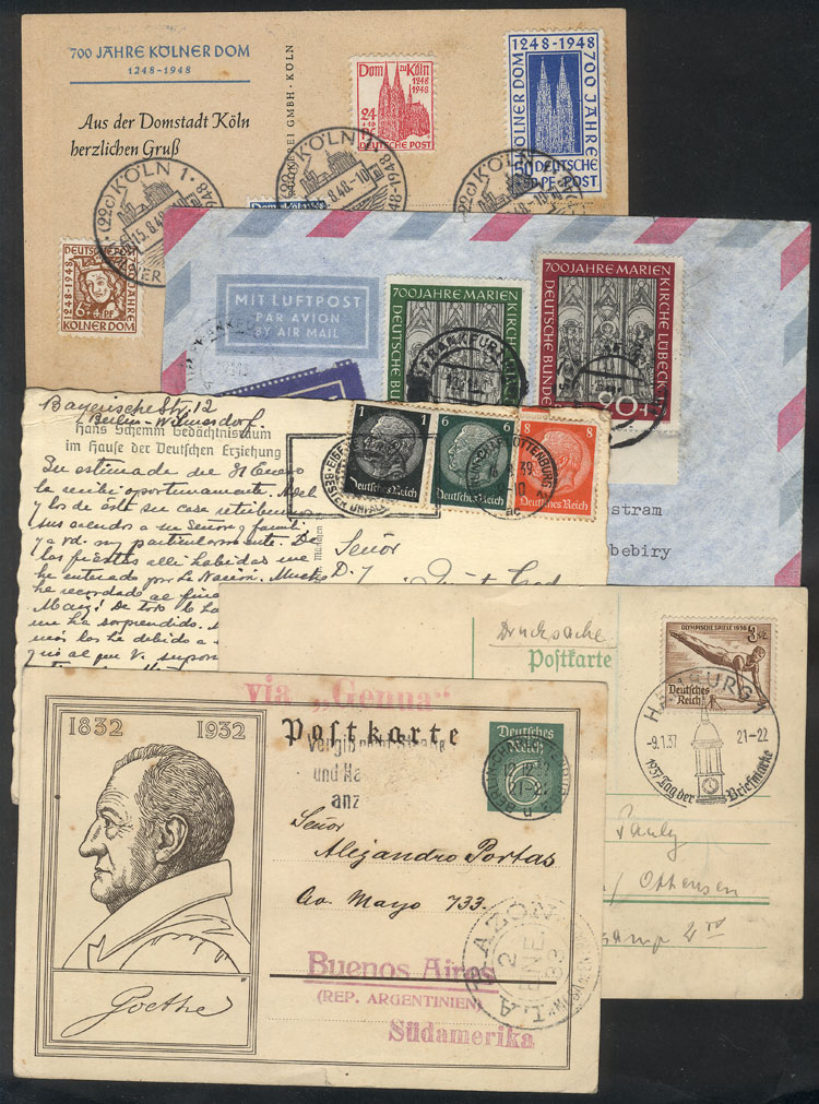 Lot 21 - germany postal history -  Guillermo Jalil - Philatino Auction # 2009 WORLDWIDE + ARGENTINA: First general auction of the year!