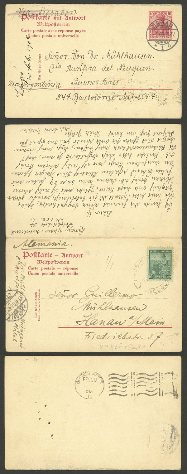 Lot 10 - germany postal history -  Guillermo Jalil - Philatino Auction # 2009 WORLDWIDE + ARGENTINA: First general auction of the year!