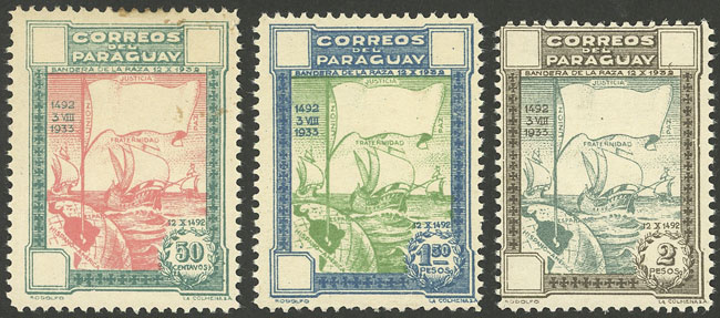 Lot 853 - Paraguay general issues -  Guillermo Jalil - Philatino Auction # 2009 WORLDWIDE + ARGENTINA: First general auction of the year!