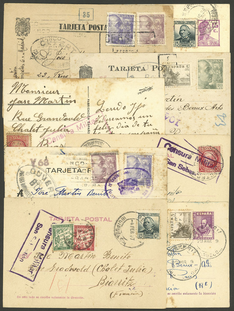 Lot 589 - Spain postal history -  Guillermo Jalil - Philatino Auction # 2009 WORLDWIDE + ARGENTINA: First general auction of the year!