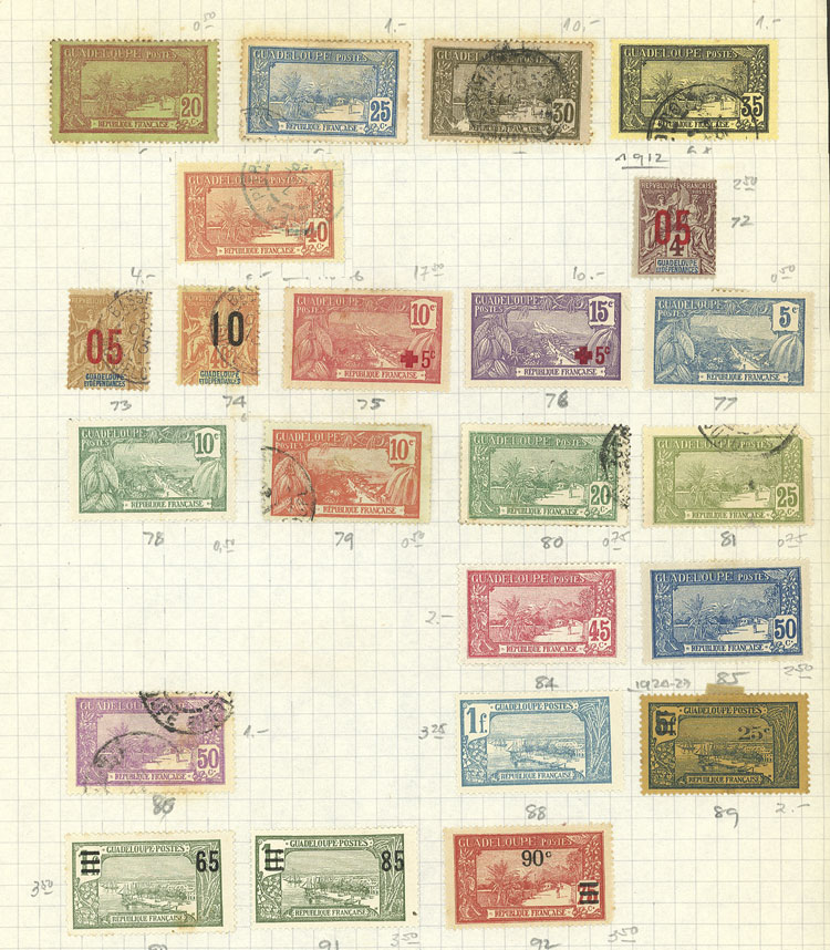 Lot 552 - french colonies Lots and Collections -  Guillermo Jalil - Philatino Auction # 2009 WORLDWIDE + ARGENTINA: First general auction of the year!