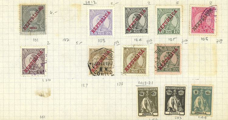 Lot 110 - angola Lots and Collections -  Guillermo Jalil - Philatino Auction # 2009 WORLDWIDE + ARGENTINA: First general auction of the year!