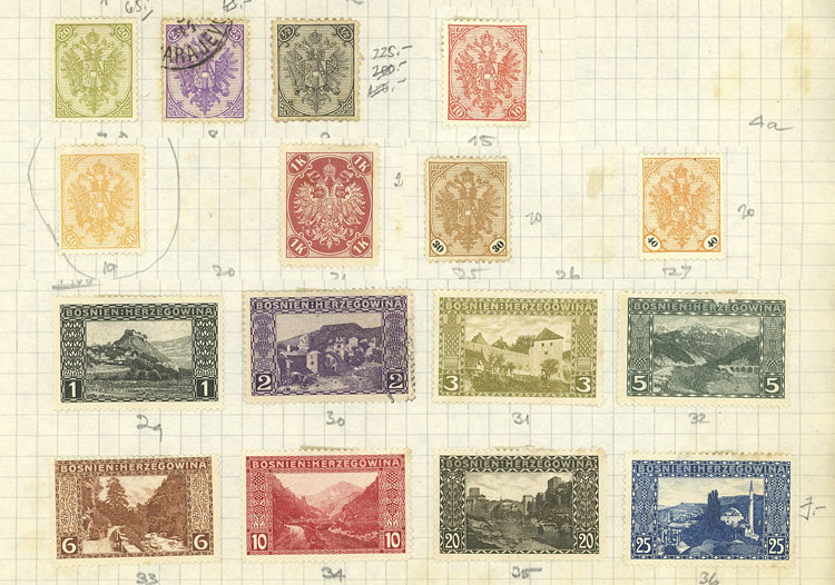 Lot 481 - bosnia herzegovina Lots and Collections -  Guillermo Jalil - Philatino Auction # 2009 WORLDWIDE + ARGENTINA: First general auction of the year!