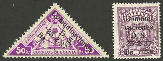 Lot 473 - bolivia general issues -  Guillermo Jalil - Philatino Auction # 2009 WORLDWIDE + ARGENTINA: First general auction of the year!