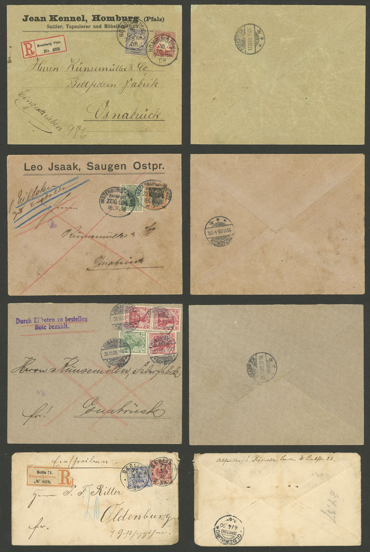Lot 8 - germany postal history -  Guillermo Jalil - Philatino Auction # 2009 WORLDWIDE + ARGENTINA: First general auction of the year!