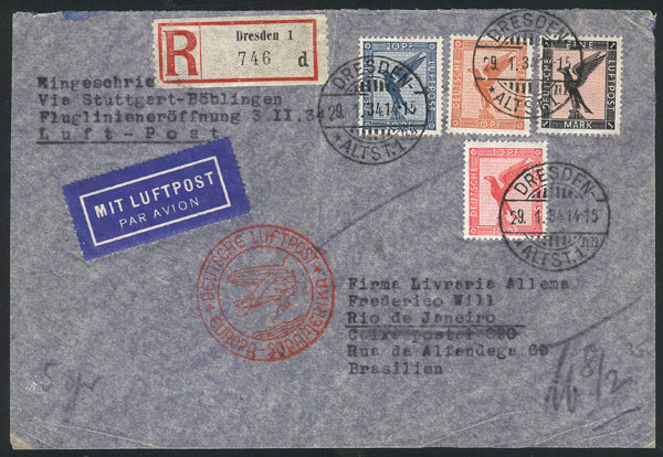 Lot 26 - germany postal history -  Guillermo Jalil - Philatino Auction # 2009 WORLDWIDE + ARGENTINA: First general auction of the year!