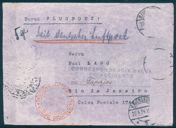 Lot 29 - germany postal history -  Guillermo Jalil - Philatino Auction # 2009 WORLDWIDE + ARGENTINA: First general auction of the year!