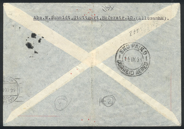 Lot 34 - germany postal history -  Guillermo Jalil - Philatino Auction # 2009 WORLDWIDE + ARGENTINA: First general auction of the year!