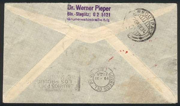 Lot 37 - germany postal history -  Guillermo Jalil - Philatino Auction # 2009 WORLDWIDE + ARGENTINA: First general auction of the year!