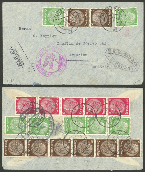 Lot 66 - germany postal history -  Guillermo Jalil - Philatino Auction # 2009 WORLDWIDE + ARGENTINA: First general auction of the year!