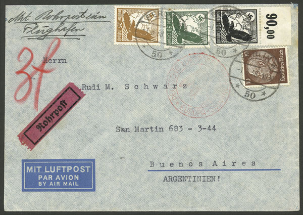 Lot 71 - germany postal history -  Guillermo Jalil - Philatino Auction # 2009 WORLDWIDE + ARGENTINA: First general auction of the year!