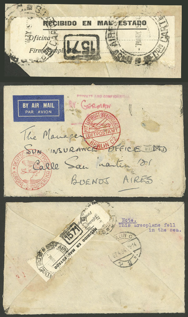 Lot 30 - germany postal history -  Guillermo Jalil - Philatino Auction # 2009 WORLDWIDE + ARGENTINA: First general auction of the year!