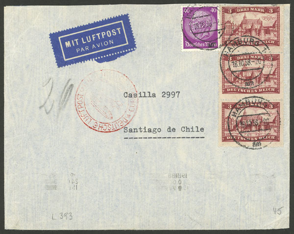 Lot 73 - germany postal history -  Guillermo Jalil - Philatino Auction # 2009 WORLDWIDE + ARGENTINA: First general auction of the year!