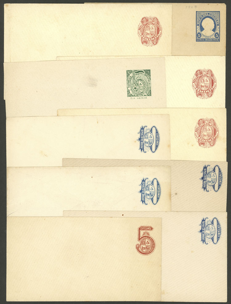Lot 1018 - Uruguay postal stationeries -  Guillermo Jalil - Philatino Auction # 2009 WORLDWIDE + ARGENTINA: First general auction of the year!