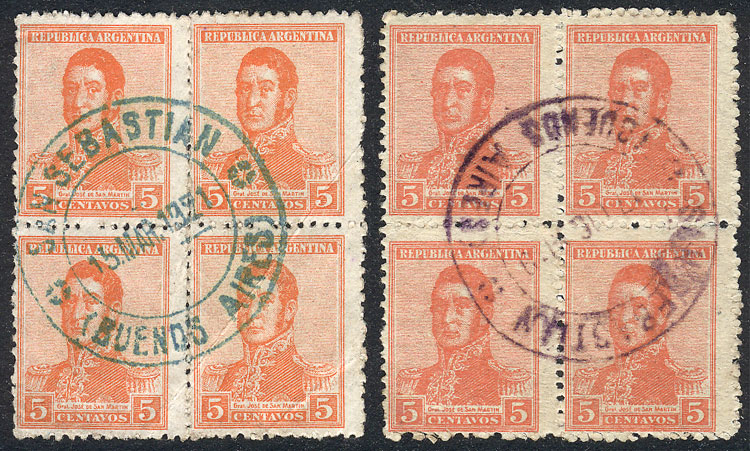 Lot 194 - Argentina general issues -  Guillermo Jalil - Philatino Auction # 2009 WORLDWIDE + ARGENTINA: First general auction of the year!