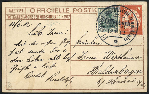 Lot 11 - germany postal history -  Guillermo Jalil - Philatino Auction # 2009 WORLDWIDE + ARGENTINA: First general auction of the year!