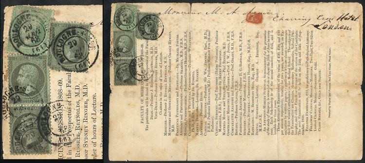Lot 665 - France postal history -  Guillermo Jalil - Philatino Auction # 2009 WORLDWIDE + ARGENTINA: First general auction of the year!