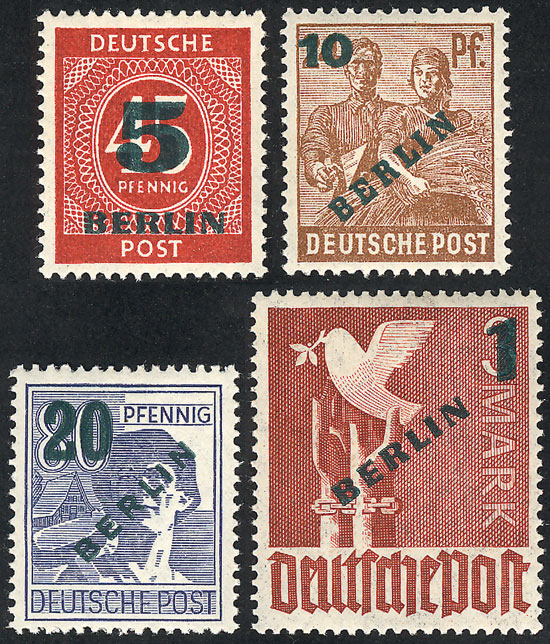 Lot 91 - germany - berlin general issues -  Guillermo Jalil - Philatino Auction # 2009 WORLDWIDE + ARGENTINA: First general auction of the year!