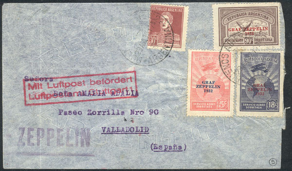 Lot 234 - Argentina airmail -  Guillermo Jalil - Philatino Auction # 2009 WORLDWIDE + ARGENTINA: First general auction of the year!