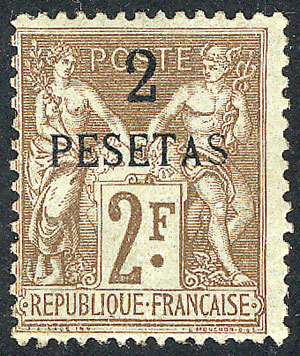 Lot 830 - french morocco general issues -  Guillermo Jalil - Philatino Auction # 2009 WORLDWIDE + ARGENTINA: First general auction of the year!