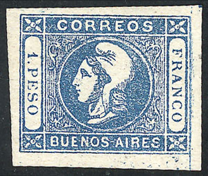 Lot 6 - Argentina cabecitas -  Guillermo Jalil - Philatino Auction # 2010 ARGENTINA: Small special sale with good lots!