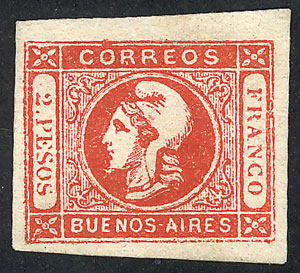 Lot 8 - Argentina cabecitas -  Guillermo Jalil - Philatino Auction # 2010 ARGENTINA: Small special sale with good lots!
