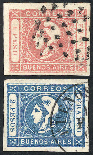 Lot 9 - Argentina cabecitas -  Guillermo Jalil - Philatino Auction # 2010 ARGENTINA: Small special sale with good lots!