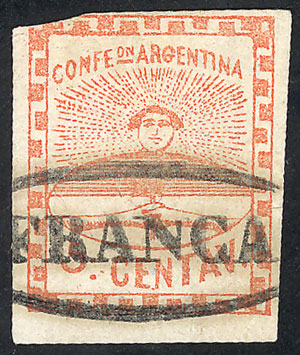Lot 22 - Argentina confederation -  Guillermo Jalil - Philatino Auction # 2010 ARGENTINA: Small special sale with good lots!
