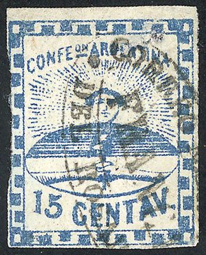 Lot 26 - Argentina confederation -  Guillermo Jalil - Philatino Auction # 2010 ARGENTINA: Small special sale with good lots!