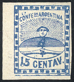 Lot 28 - Argentina confederation -  Guillermo Jalil - Philatino Auction # 2010 ARGENTINA: Small special sale with good lots!