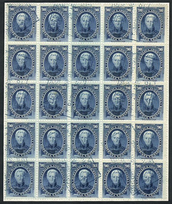 Lot 58 - Argentina general issues -  Guillermo Jalil - Philatino Auction # 2010 ARGENTINA: Small special sale with good lots!