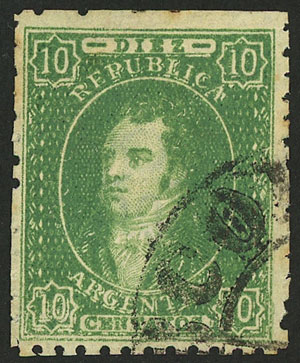 Lot 40 - Argentina rivadavias -  Guillermo Jalil - Philatino Auction # 2010 ARGENTINA: Small special sale with good lots!