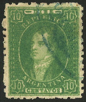 Lot 42 - Argentina rivadavias -  Guillermo Jalil - Philatino Auction # 2010 ARGENTINA: Small special sale with good lots!