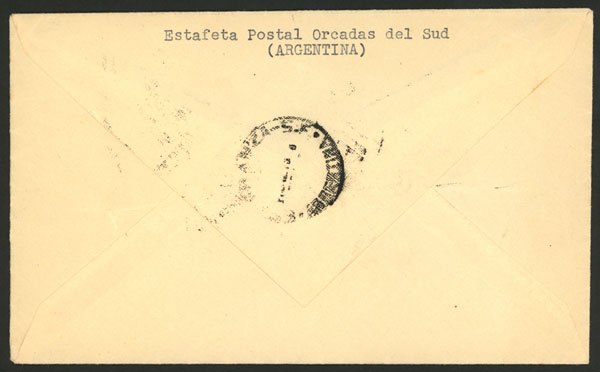Lot 2 - argentina antarctica postal history -  Guillermo Jalil - Philatino Auction # 2013 ARGENTINA:
