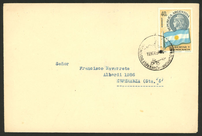 Lot 3 - argentina antarctica postal history -  Guillermo Jalil - Philatino Auction # 2013 ARGENTINA: